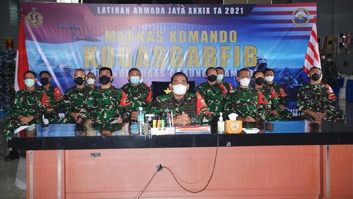 Panglima Komando Armada I, Laksda TNI Abdul Rasyid K hadiri pembukaan Latihan Armada Jaya XXXIX Tahun Anggaran 2021