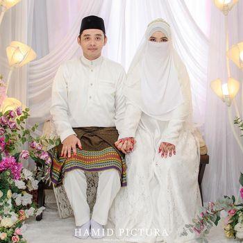 pernikahan Cristin dan Arib Lutfi Naufal.