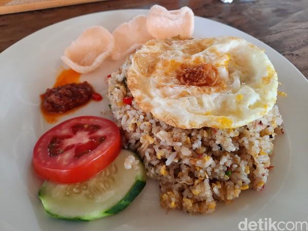 Selain itu untuk makanan, Piltik mengunggulkan nasi goreng andaliman. Seperti diketahui, andaliman adalah bahan wajib yang dipakai di makanan tradisional Batak. Foto: Putu Intan/detikcom