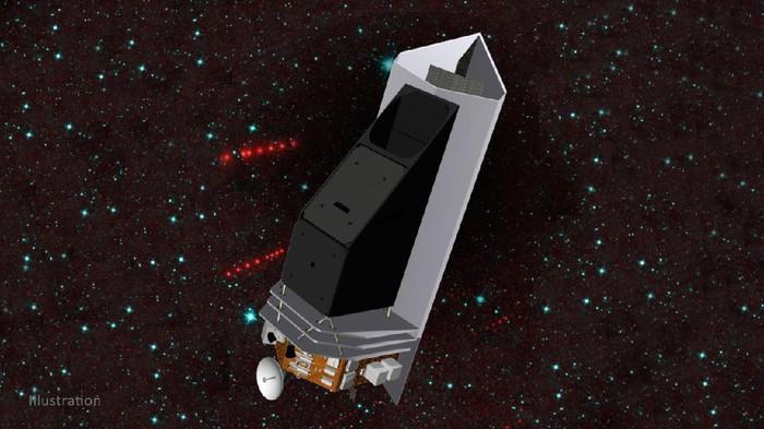 Ilustrasi teleskop luar angkasa yang dirancang NASA untuk lindungi Bumi dari ancaman asteroid