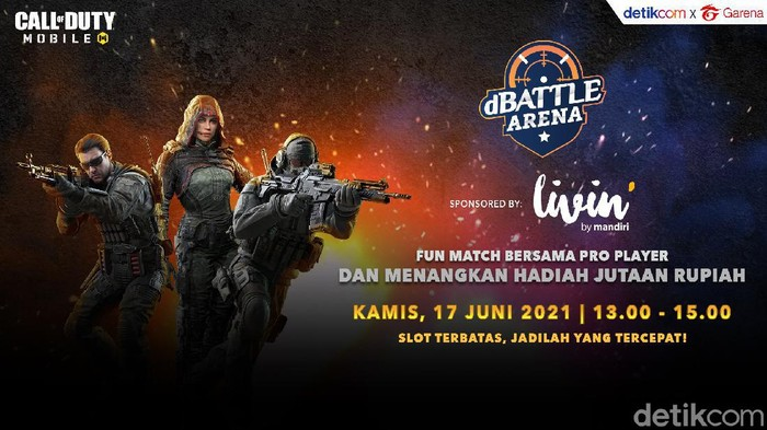 2 Hari Lagi! dBattle Arena Call of Duty: Mobile detikcom x Garena Dimulai