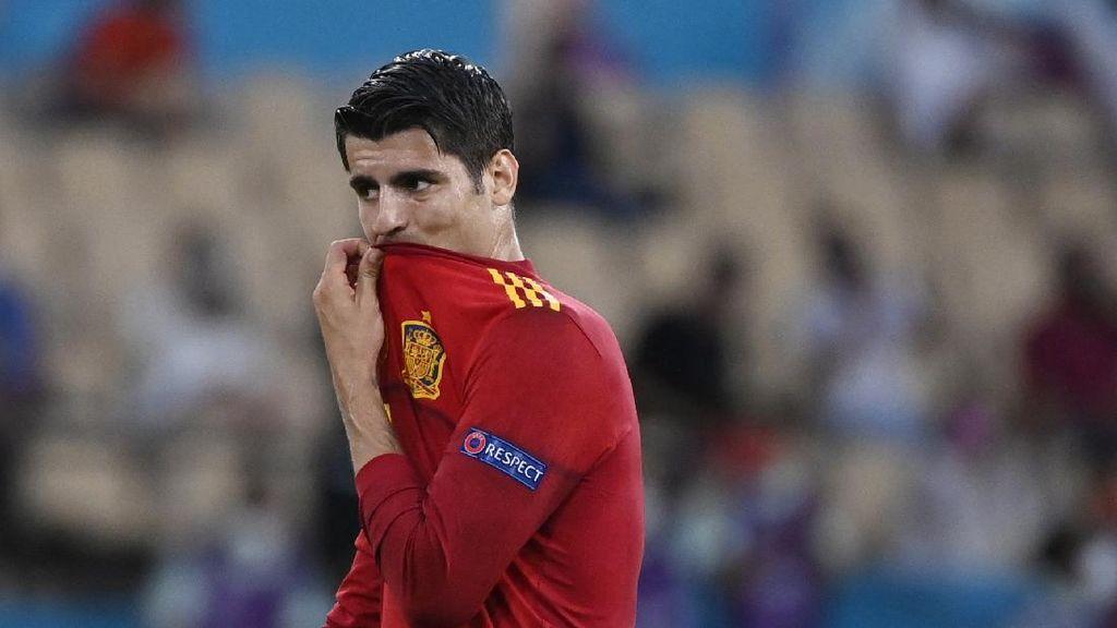 Spanyol Diimbangi Swedia, Fans Salahkan Enrique-Morata