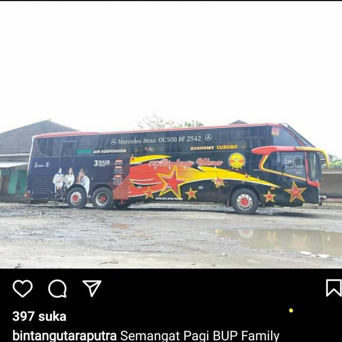 Bus PO Bintang Utara Putra kelas Economy Luxury
