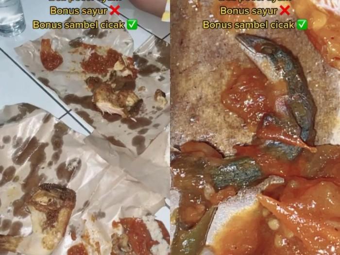 Netizen Temukan Cicak Dalam Sambal Pecel Ayam
