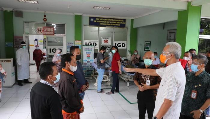 Gubernur Jateng Ganjar Pranowo saat sidak di RSUD Kartini Jepara, Selasa (16/5/2021).