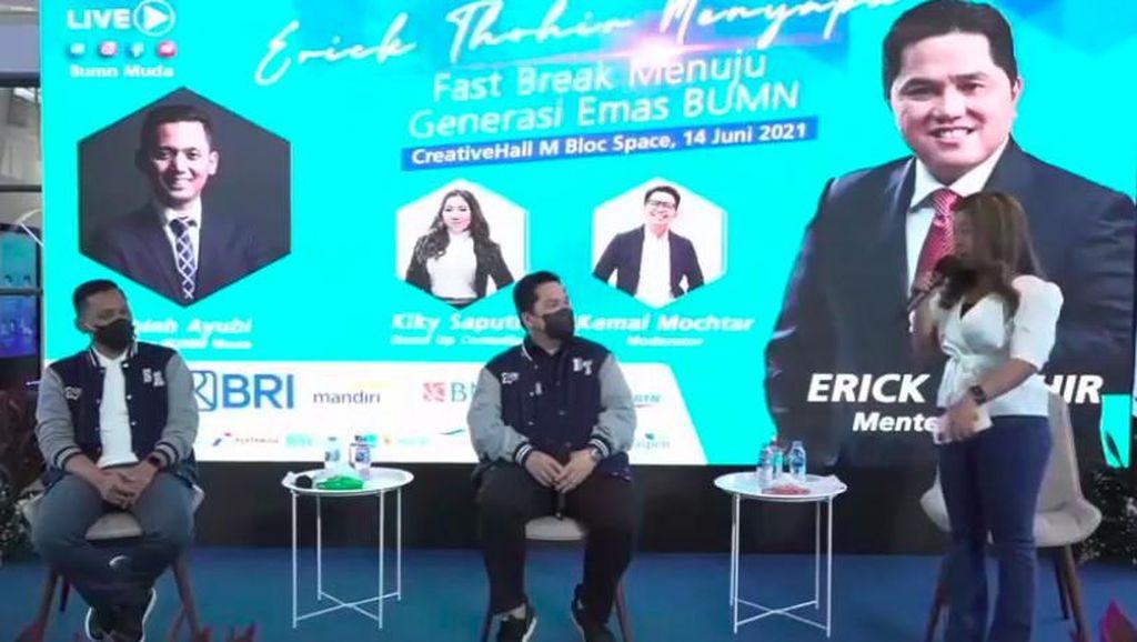 Kiky Saputri Roasting Erick Thohir hingga Colek Wapres, Endingnya Takut Ketawa