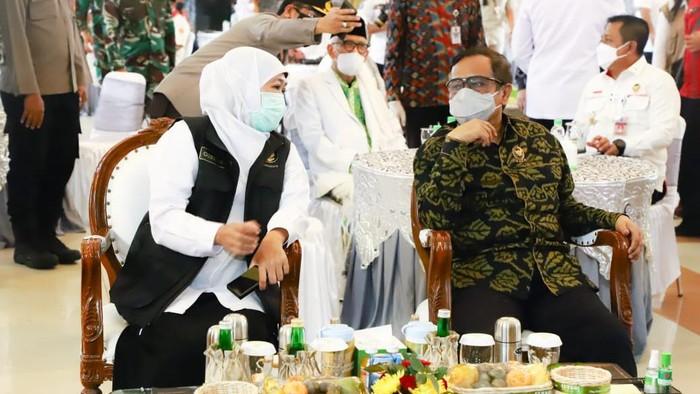 Menkopolhukam Mahfud MD dan Gubernur Khofifah
