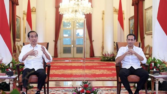 Presiden Jokowi dan Nadiem Makarim
