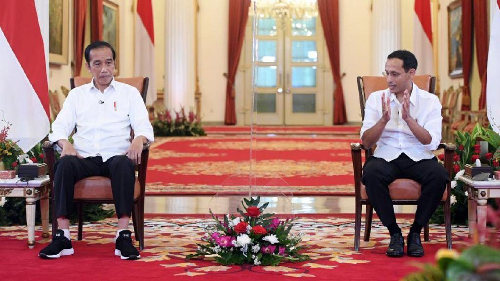 Jokowi Tanya Nadiem: Apa yang Dilakukan Mas Menteri agar SDM Unggul?