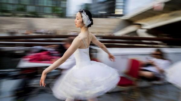Para penari di pertunjukan balet Swan Lake terdiri dari balerina yang memerankan Odette (Angsa Putih) bersama kawanannya dan sang antagonis Odile (Angsa Hitam).