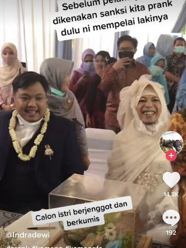 Viral pengantin pria kena prank.