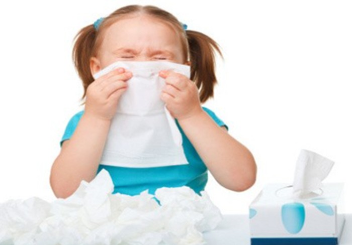 Ilustrasi anak flu