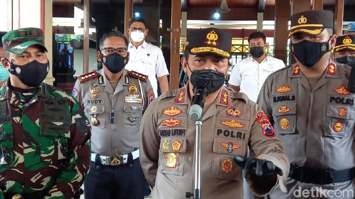 Kapolda Jateng Irjen Ahmad Luthfi saat kunker di Kabupaten Tegal, Rabu (16/6/2021).