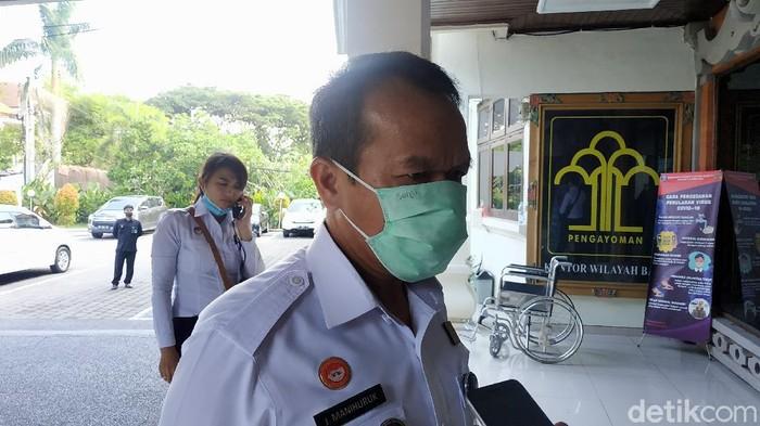 Kepala Kantor Wilayah Kementerian Hukum dan Hak Asasi Manusia (Kanwil Kemenkumham) Bali Jamaruli Manihuruk (Sui Suadnyana/detikcom)