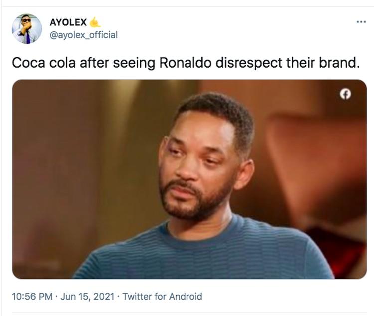 Meme Ronaldo Coca Cola
