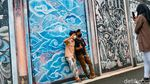 Mural Motif Batik Percantik Jalan Mayang Kota Tangerang