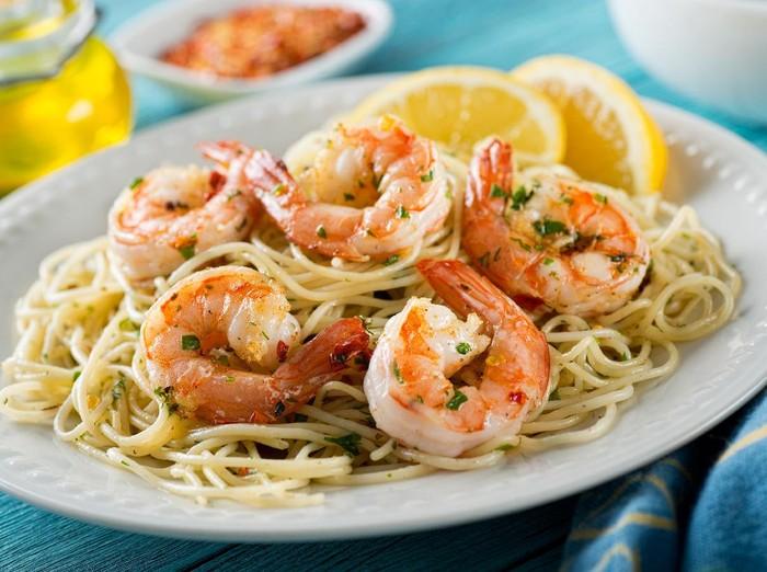 Resep Spaghetti Udang Bawang Putih