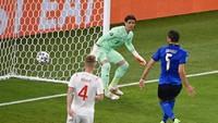Babak I Selesai, Italia Memimpin 1-0 atas Swiss