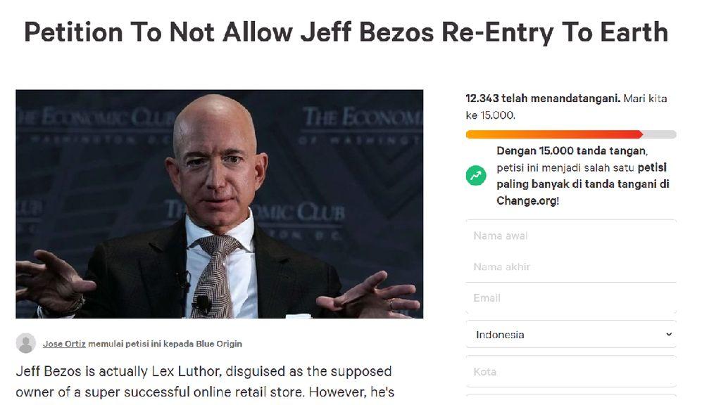 Pergi ke Luar Angkasa, Jeff Bezos Dilarang Balik ke Bumi