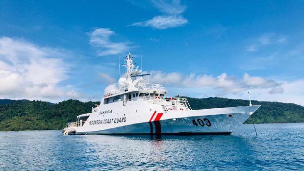 KN Kuda Laut-403, salah satu kapal yang membantu proses evakuasi (Humas Bakamla)