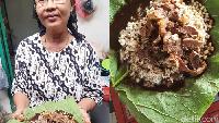 Sedep Poll! Makan Nasi Rawon Pakai Alas Daun Jati Khas Lamongan