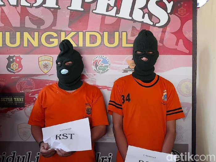 Pelaku penusukan dan tabrak lari wanita saingan kerja kekasih gelap di Gunungkidul, Kamis (17/6/2021).