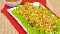 Resep Bakwan Jagung Cakalang Saus Spicymayorasi yang Gurih Pedas