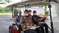 Momen Sandiaga Jadi Sopir Tembak Airlangga, Nadiem dan Budi Gunadi