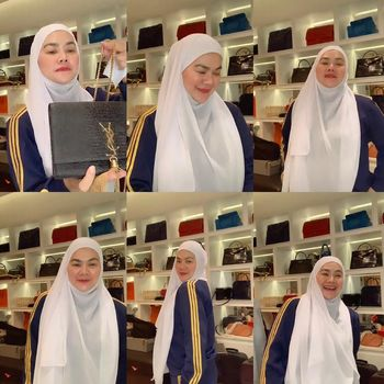 Gaya hijab Sarita Abdul Mukti.
