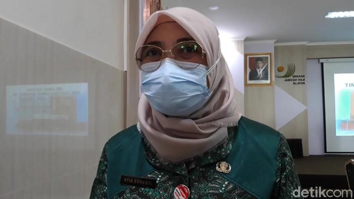 Kasi Pelayanan Kesehatan Rujukan Dinas Kesehatan Pemprov Jateng, Atin Suhesti, di Boyolali, Jumat (18/6/2021).