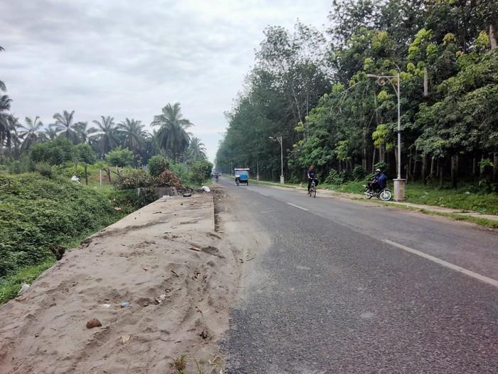 Kondisi lokasi yang sempat terjadi tumpukan sampah di Asahan, Jumat (18/6/2021)