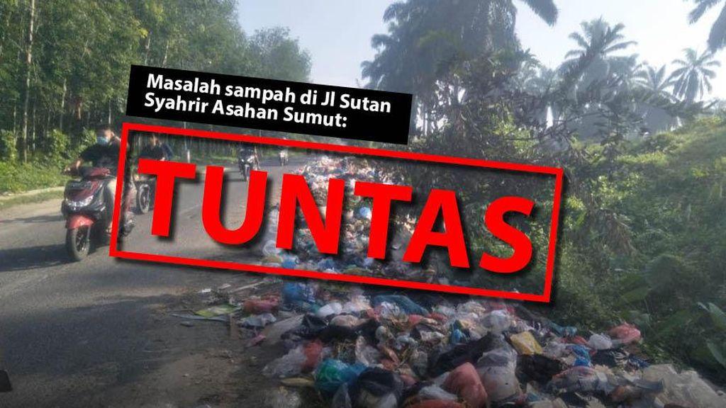 Before-After Pengangkutan Sampah Menumpuk di Jl Sutan Syahrir Asahan