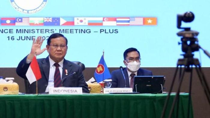 Prabowo bicara konflik Laut China Selatan saat pertemuan ADMM Plus (Dok. Kemhan)