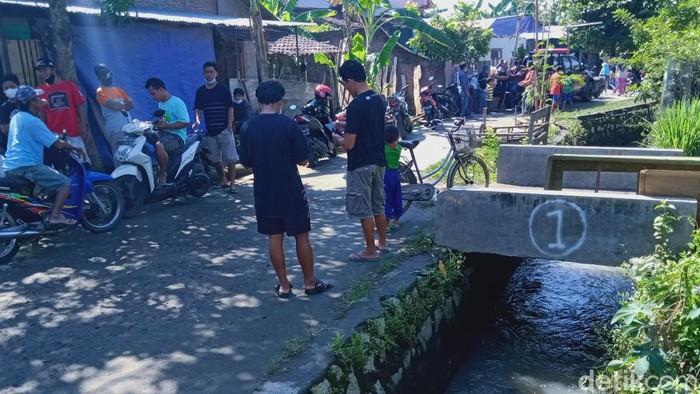 Saluran air yang berada di dekat rumah balita tewas usai hanyut di Klaten