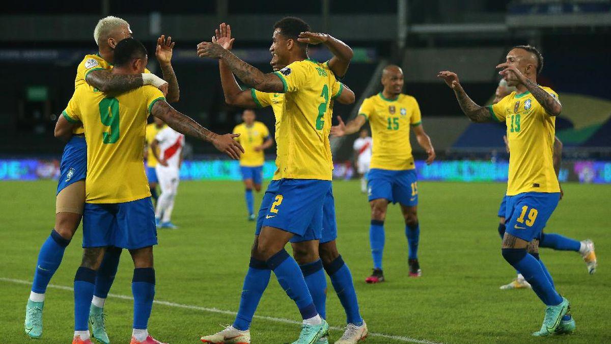 Hasil Brasil Vs Peru di Copa America 2021: Neymar Cs Menang 4-0