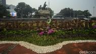 Dekorasi Jakarta Bangkit Percantik Kawasan Patung Kuda