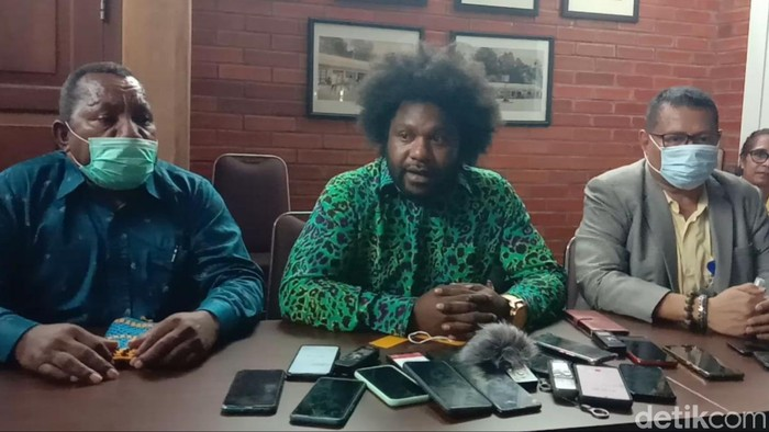 Ketua DPRD Kabupaten Tolikara Sonny Wanimbo (Wilpret Siagian/detikcom)