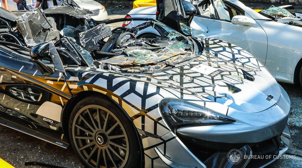 Mobil mewah selundupan dihancurkan di Filipina