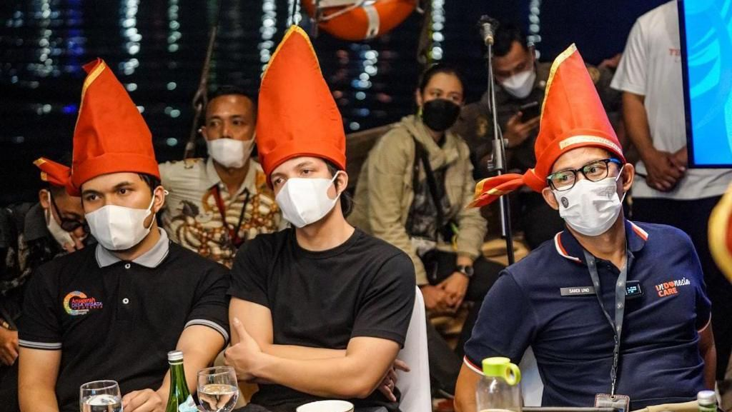 Bareng Atta Halilintar, Sandiaga Uno Dukung Penyelenggaraan Festival Jazz Makassar