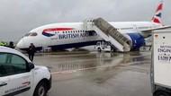 Hidung Pesawat British Airways Kolaps di Bandara