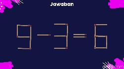 Puzzle ini mengharuskan kamu untuk memindahkan beberapa batang korek api agar hitungannya jadi benar. Cukup encerkah otak kamu?