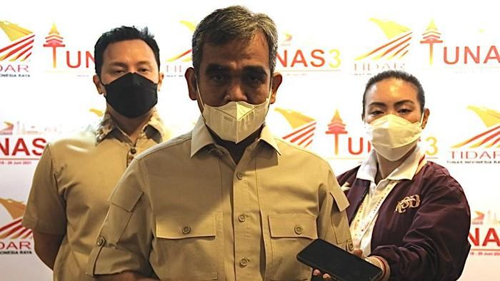 Sekjen Gerindra Ahmad Muzani (tengah)/Dok Gerindra