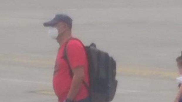 Sosok diduga Yafeti yang tengah berada di Bandara Kualanamu (Dok istimewa)