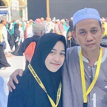 Foto Aulia dan ayahnya.