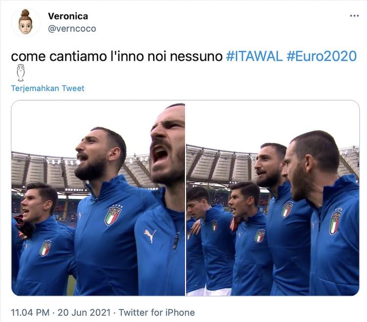 Italia tampil sempurna di fase grup Euro 2020 dengan menang beruntun dan tanpa kebobolan.