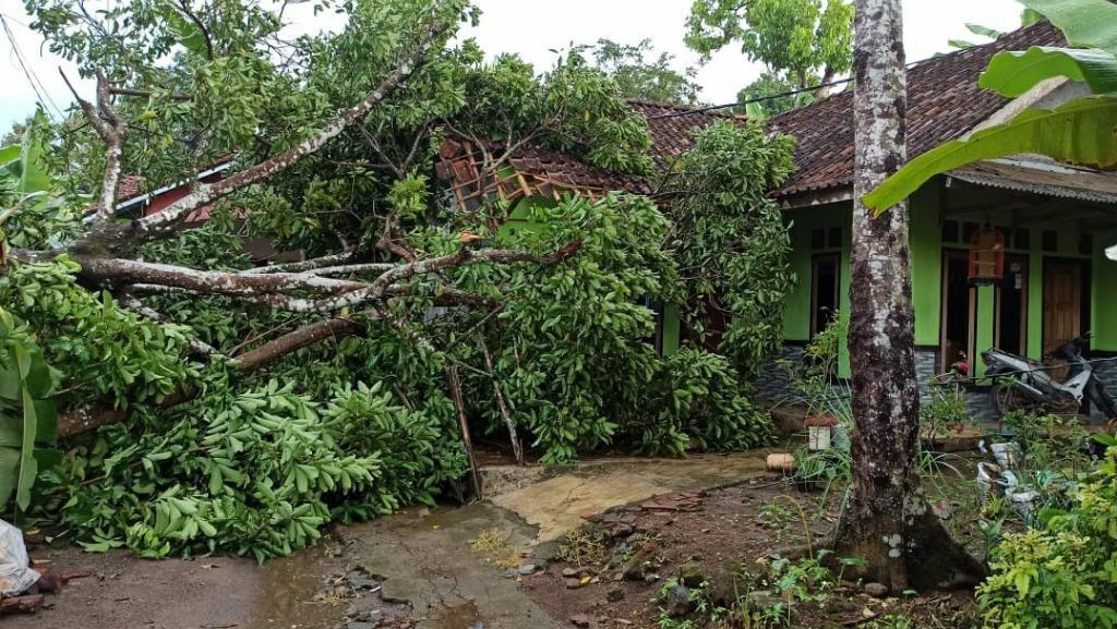 Belasan Rumah di Lakbok Ciamis Rusak Diterjang Puting Beliung