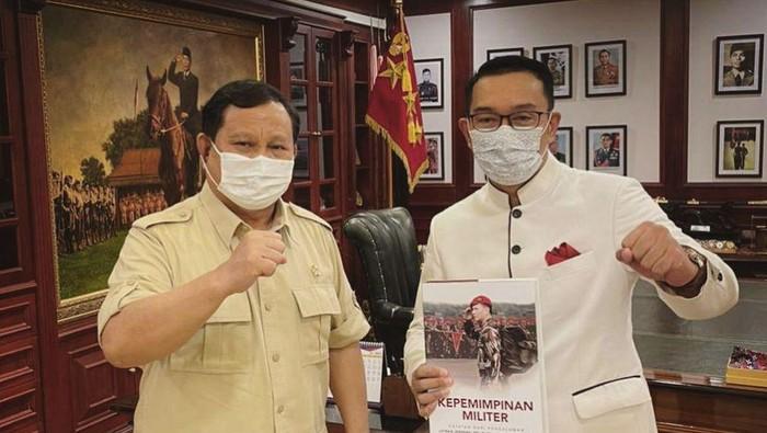 Ridwan Kamil bertemu Menhan Prabowo, bahas apa?