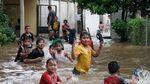 RPTRA Taman Jangkrik Terendam Imbas Hujan Deras