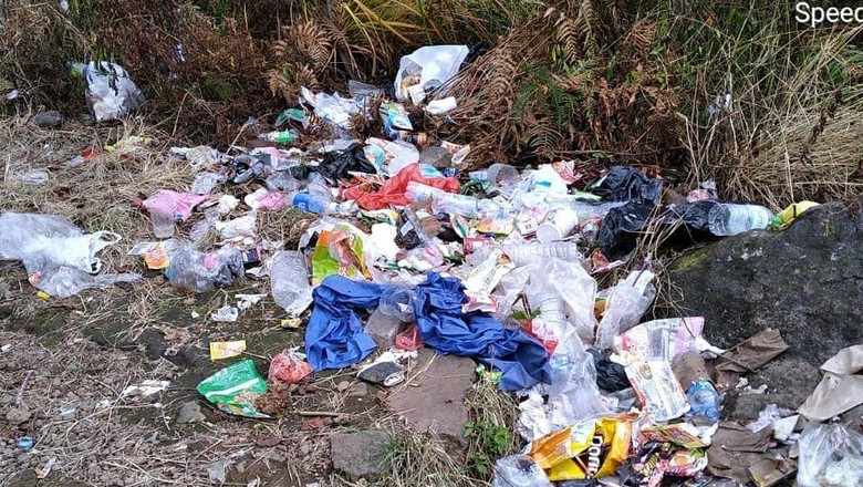 Sampah di Gunung Arjuna