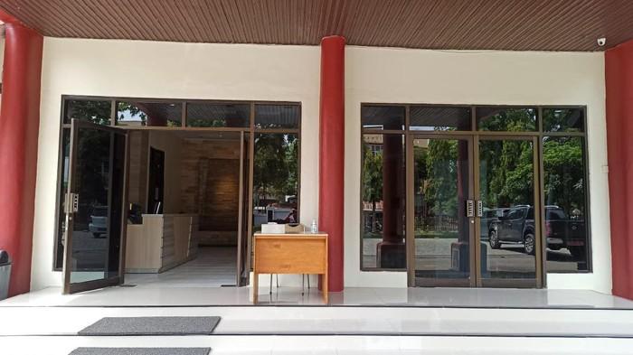 Suasana di gedung BPKP Aceh tempat pemeriksaan sejumlah pejabat terkati penyelidikan KPK (Agus-detikcom)